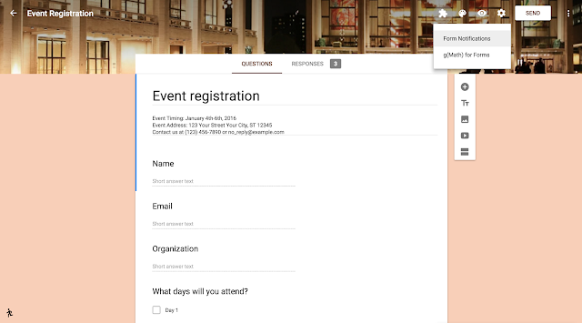 Google Apps Updated with Notification Settings and Google Forms