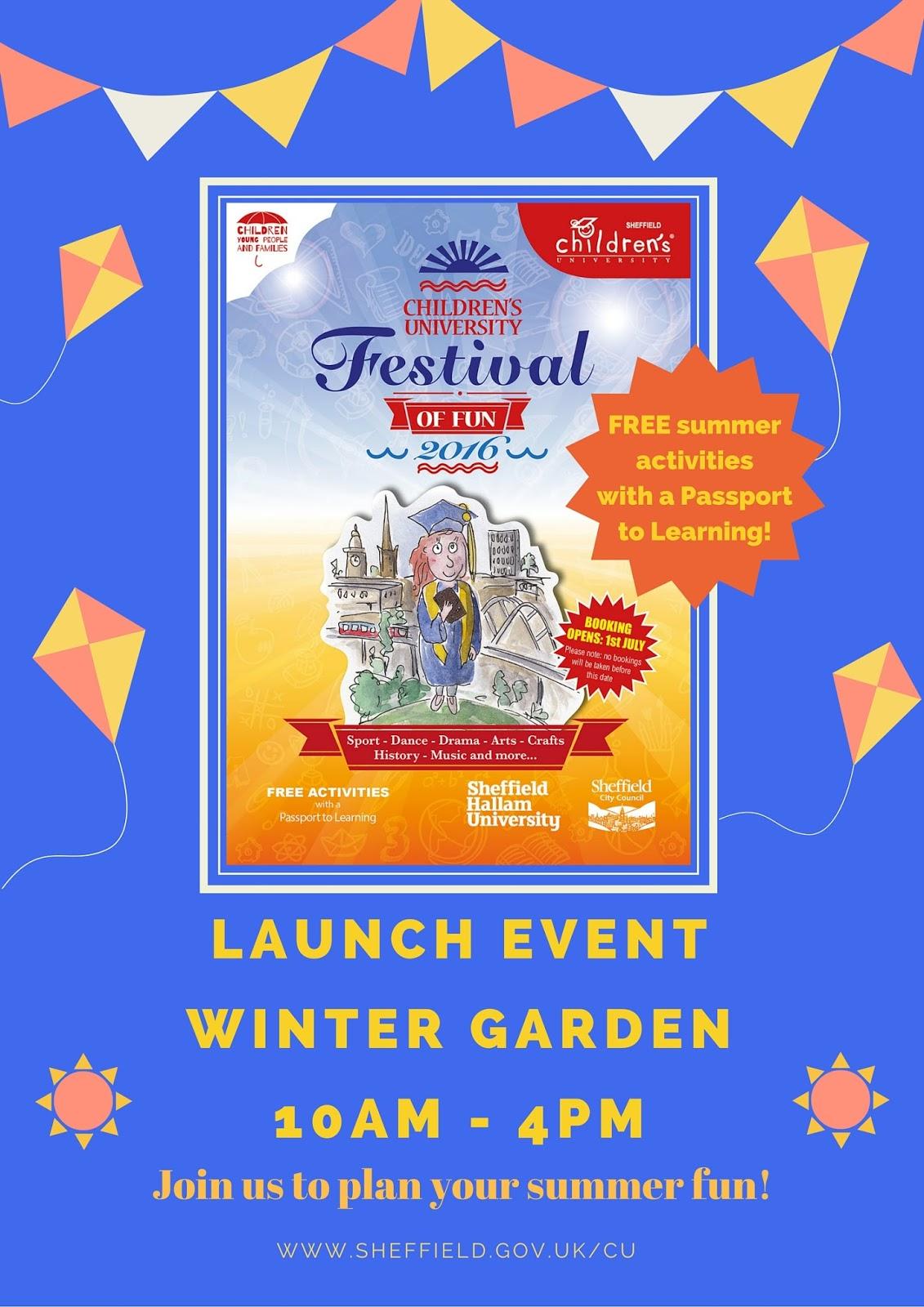 sheffield children u0027s university festival of fun 2016 launch event