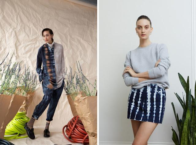 Джинсы и юбка из денима tie-dye