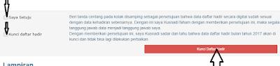 Cara mudah Mengunci Absen Online DHGTK dan Cetak SPTKM (surat pernyataan tanggung jawab mutlak)