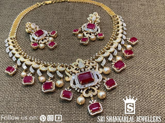 Ruby Diamond Choker by Shankarlal Jewellers