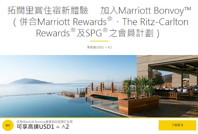 亞洲萬里通Asia Miles與萬豪旅享家Marriott Bonvoy 積分點數活動