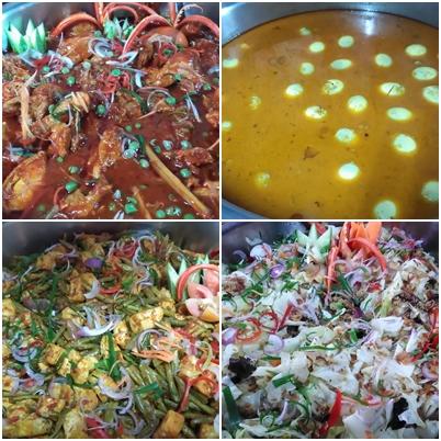 Pelabagai jenis menu masakan kampung yang dihidangkan di Rymba Haven