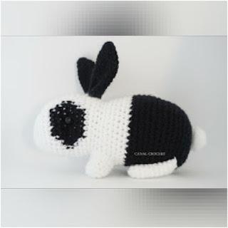 patron amigurumi Conejo bicolor canal crochet
