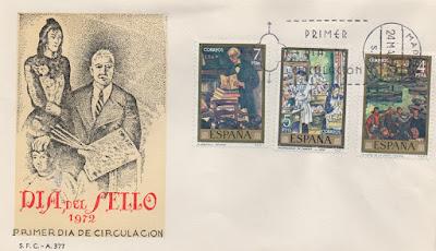 sobre, filatelia, matasellos, sellos, Solana, 1972