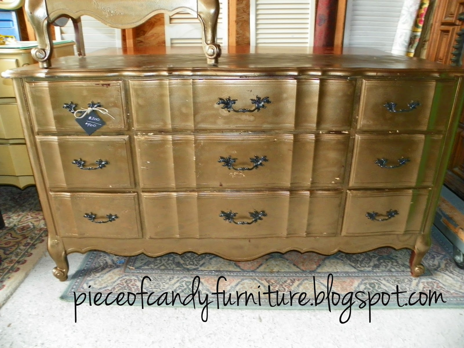 Piece Of Candy Furniture French Kent Coffey Dresser W Mirror