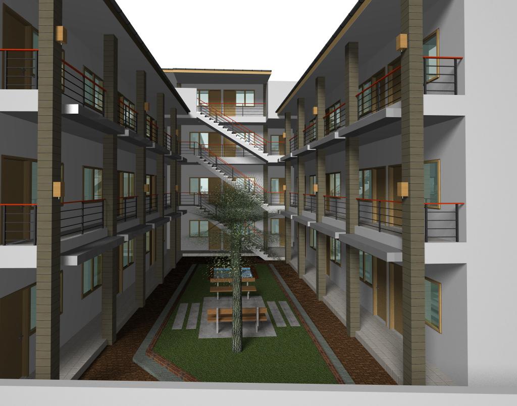 Contoh Desain Rumah Kost 2 Lantai