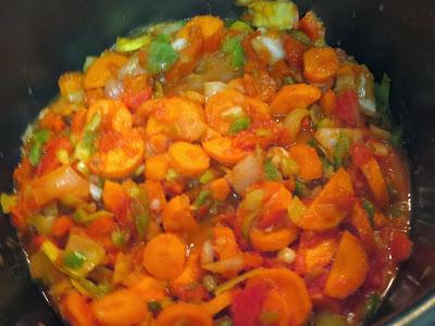 Muslos de pavo en salsa de verduras con olla GM.