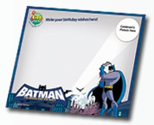Jollibee party package - Batman Theme message board