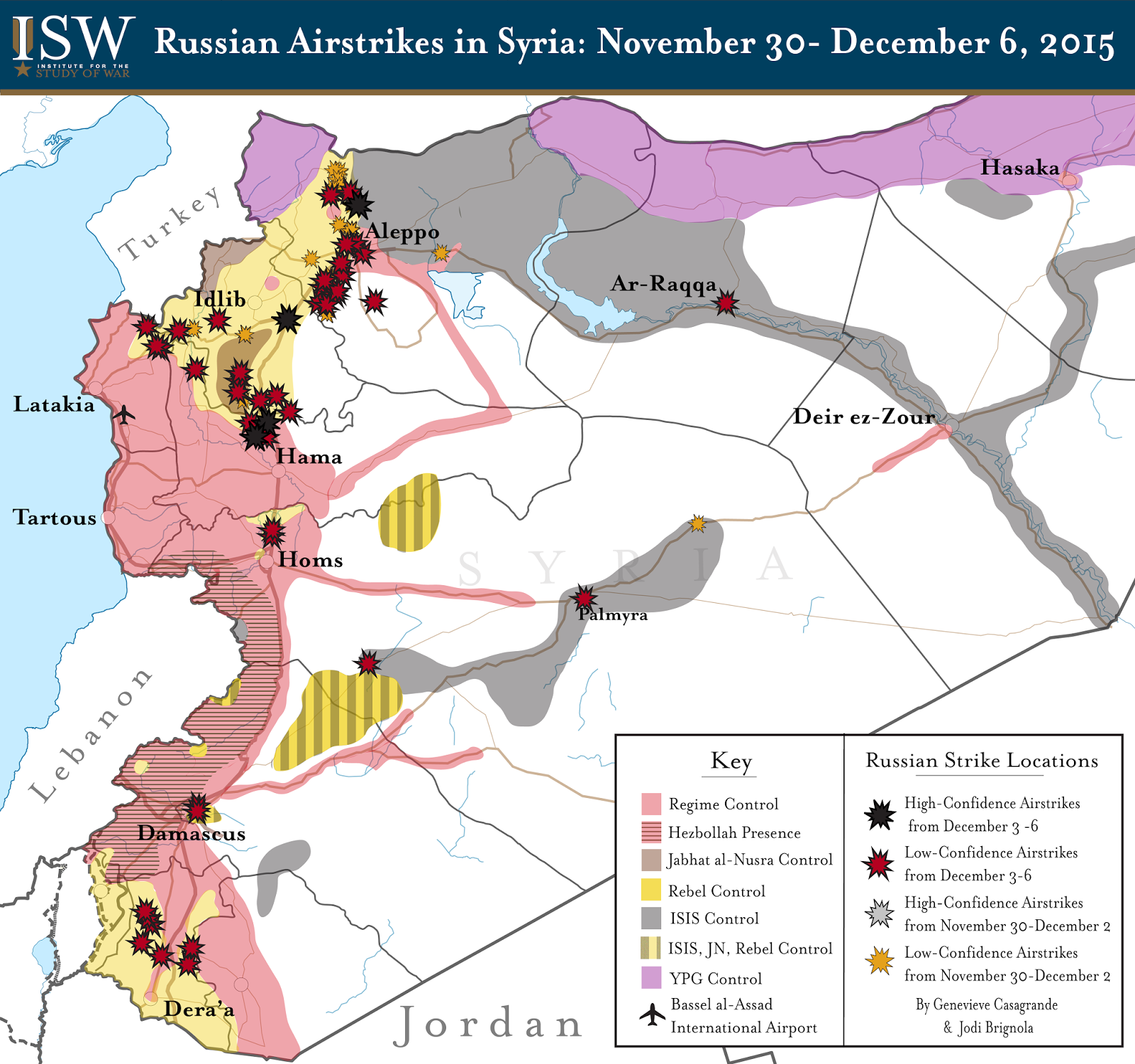 Russian Airstrikes in Syria: November 30 - December 6, 2015