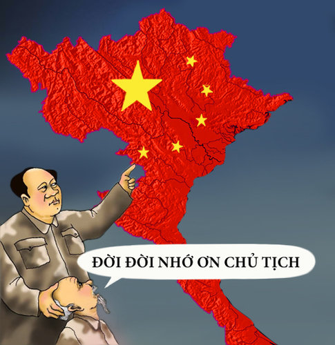 Image result for quy chế Tàu Cộng cho VN tự trị với cờ 6 ngôi sao của TC