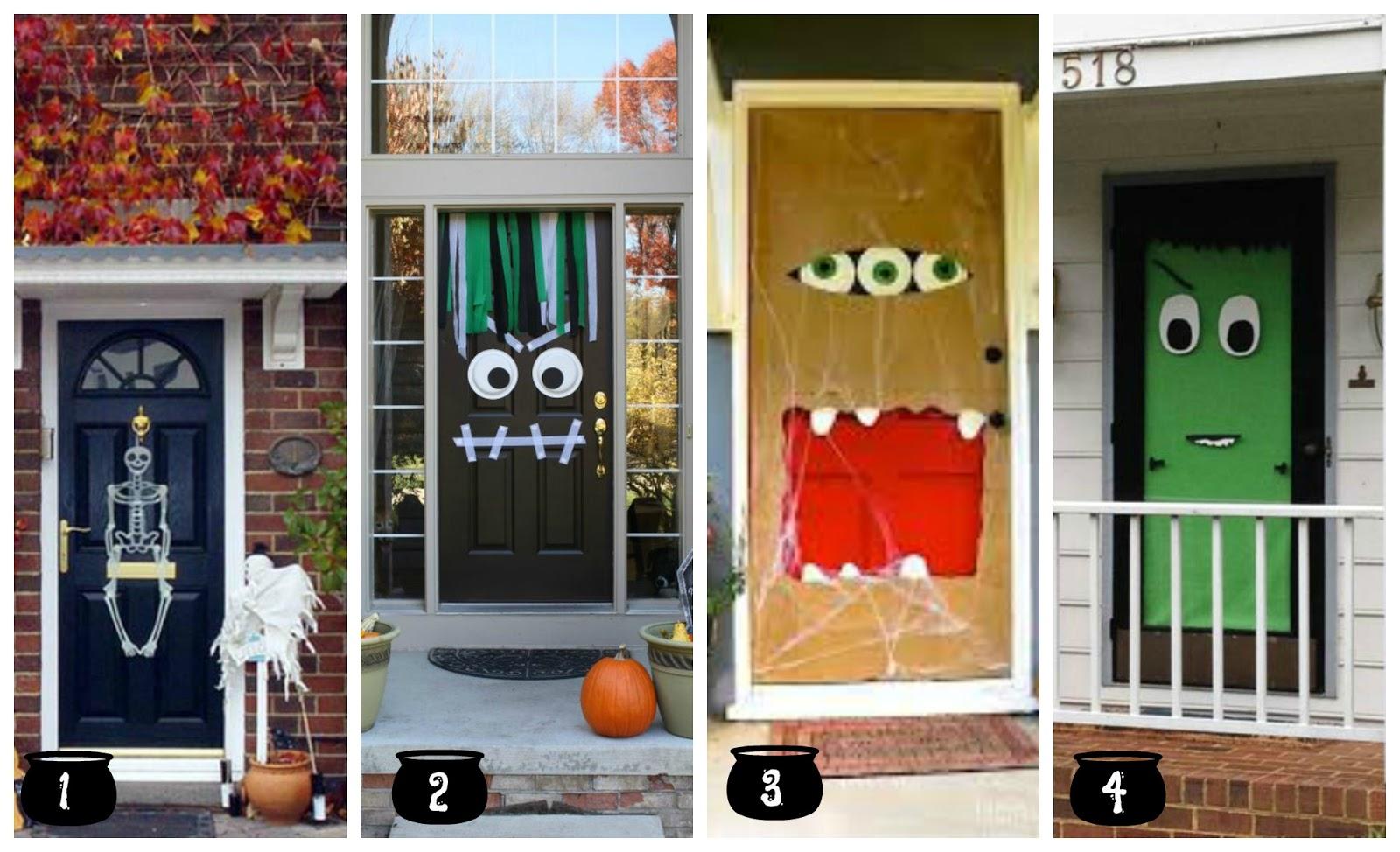 Ideas para decorar puertas para ideas para decorar for Imagenes puertas decoradas halloween