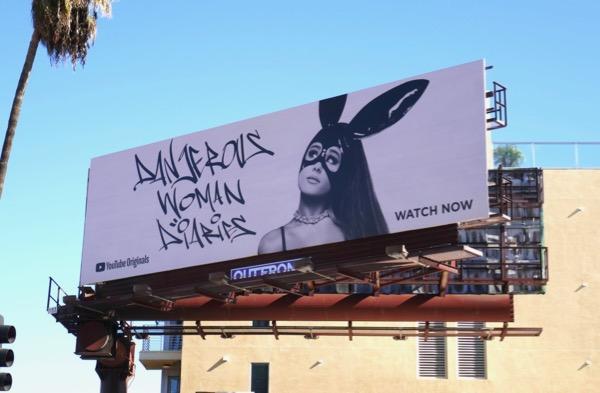 Ariana Grande Dangerous Woman Diaries YouTube billboard