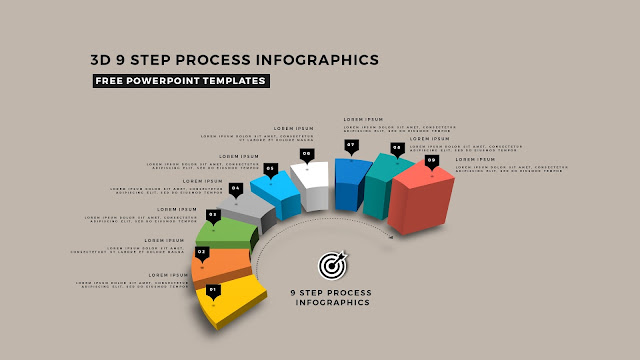 Multi Step 3D Circular Process Diagram Infographic Free PowerPoint Template Slide 14