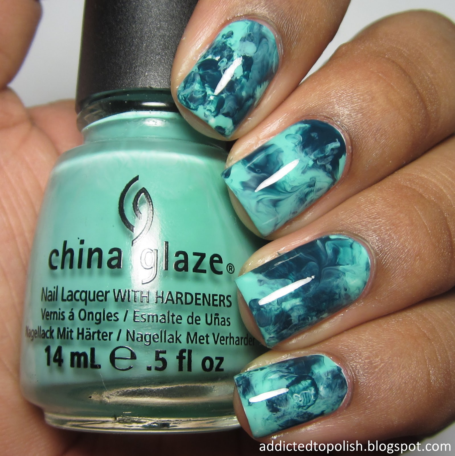 Plastic Bag Marble China Glaze Aquadelic Well Trained Monochromatic