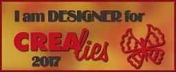 www.all4you-wilma.blogspot.com I am DESIGNER for Crealies 2017