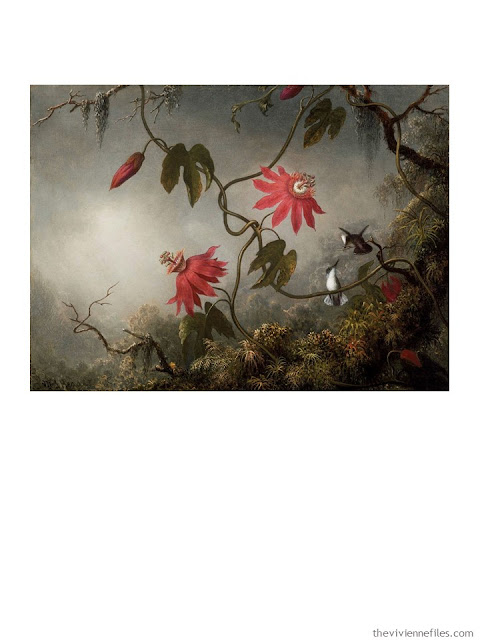 Passion Flowers with Hummingbirds by Martin Johnson Heade