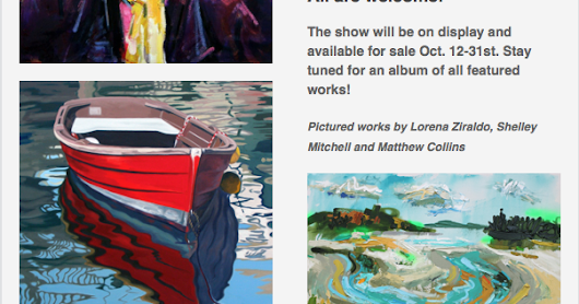 Invitation to the Annual Group Show at Teichert Gallery in Halifax. Opening: Thursday, October 12, 2017