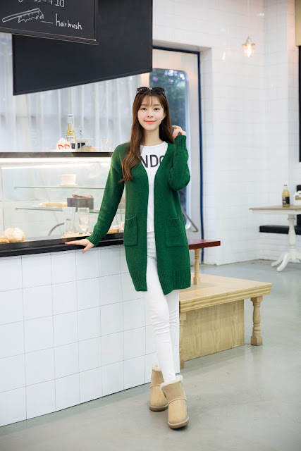 Model Cardigan Korea Rajut Import Baha Bagus