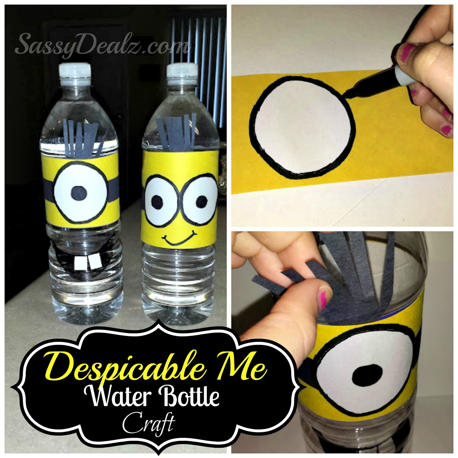 DIY: Despicable Me Minion Water Bottle Craft For Kids ...