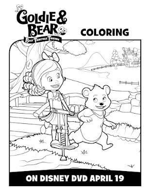 Goldie & Bear @DisneyJunior Activity and Coloring Sheets