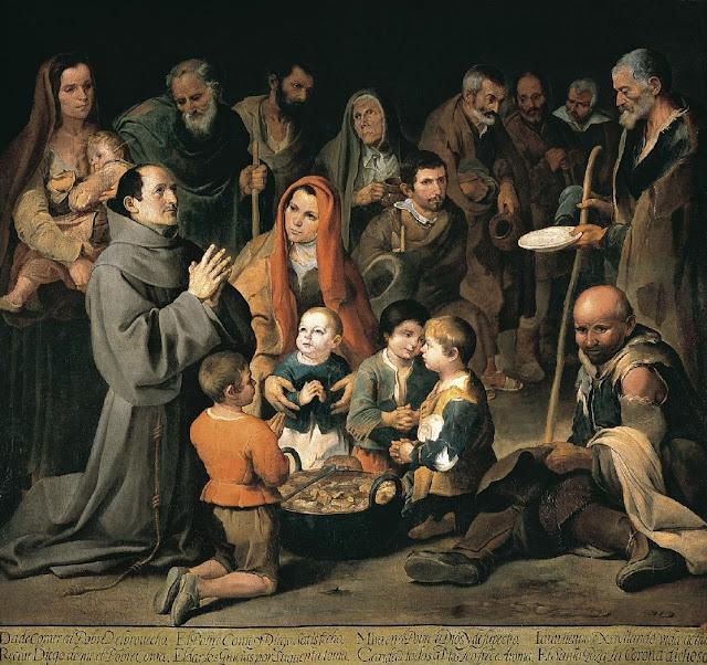 San Diego de Alcalá dando de comer a los pobres, 1646