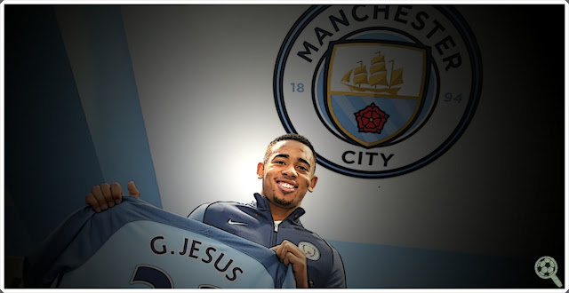 Gabriel Jesus signs Manchester City