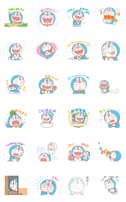 Doraemon's Animated Crayon Stickers