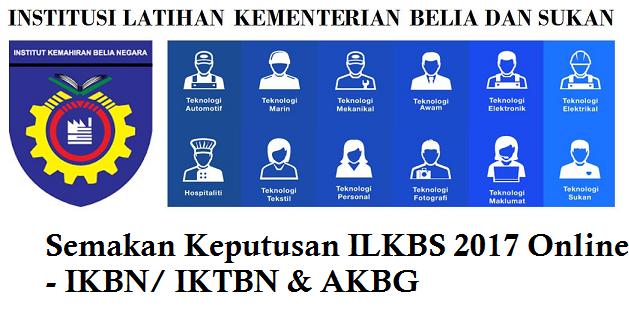 Semakan Keputusan IKBN 2017 Online