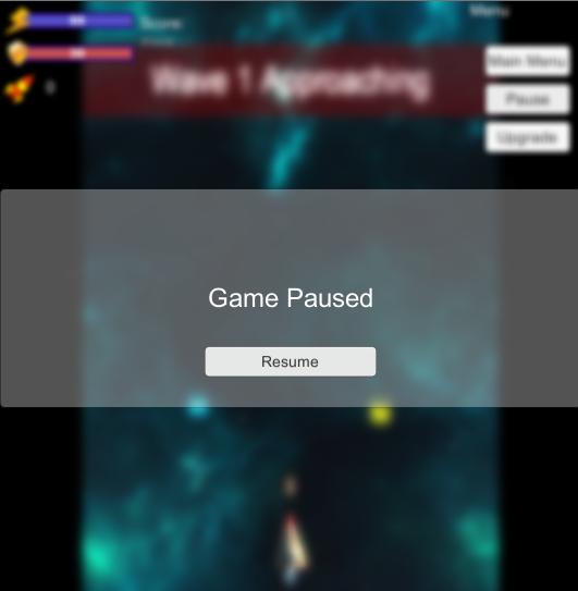 EarthSquadron - Unity: Unity - Create a fullscreen Blur for