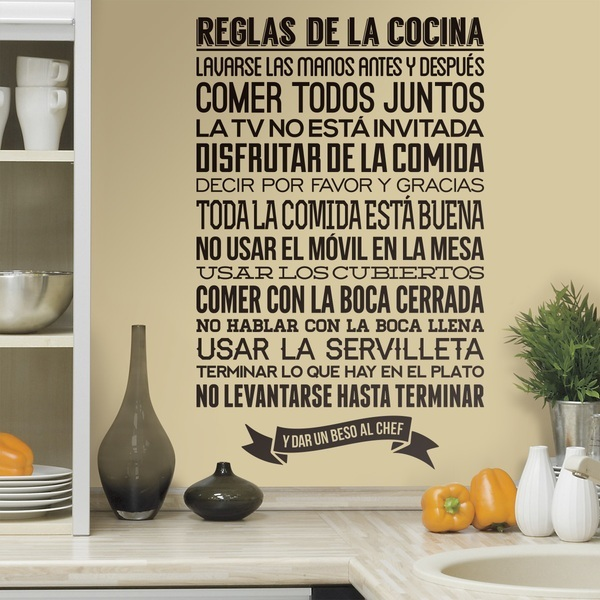 Cocinas con adhesivos decorativos decoraci n de cocinas for Decoracion para pared de cocina