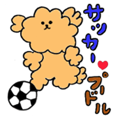 Soccer love poodle