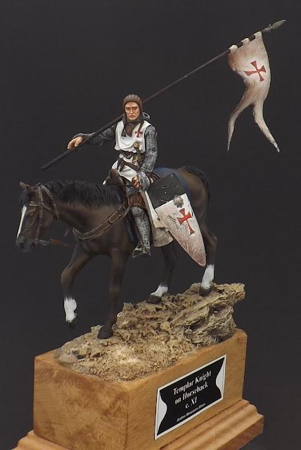 Templar Knight on Horseback c.XI - Andrea Miniatures 90mm Templar%2B4