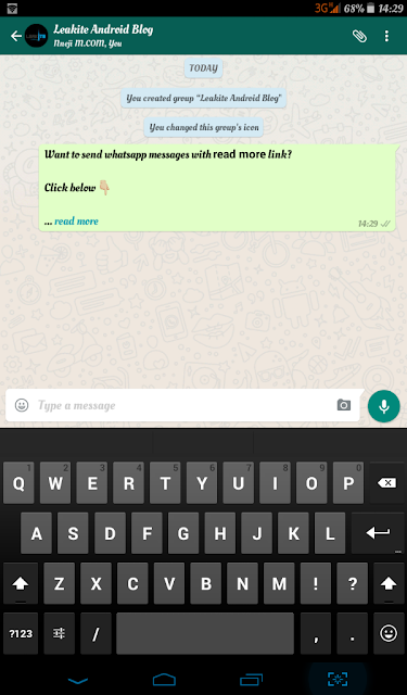 how to add readmore to whatsapp message