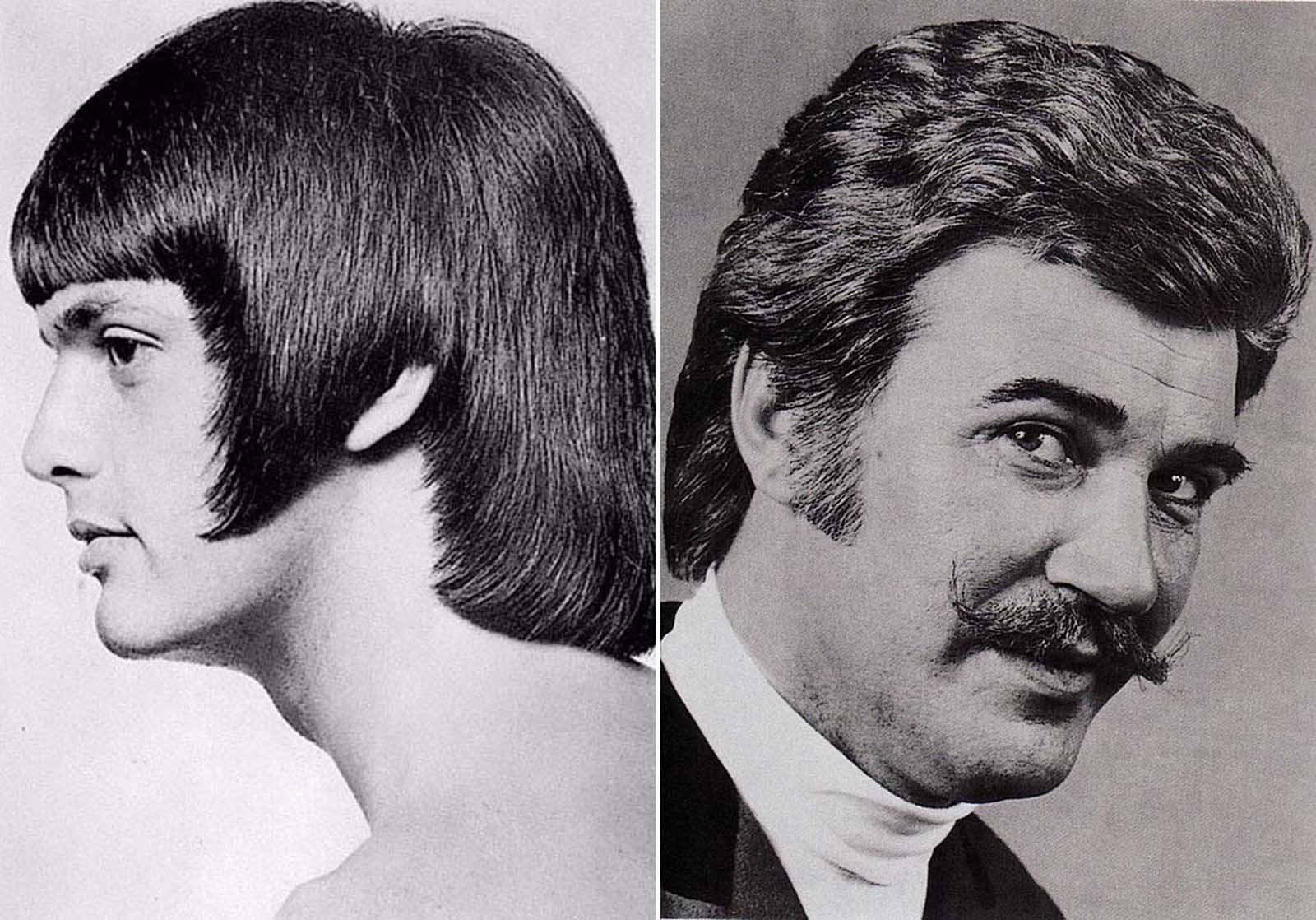 Romantic men\'s hairstyle from the 1960s–1970s