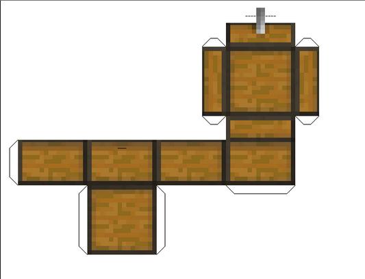 Chest Papercraft Mini Minecraft