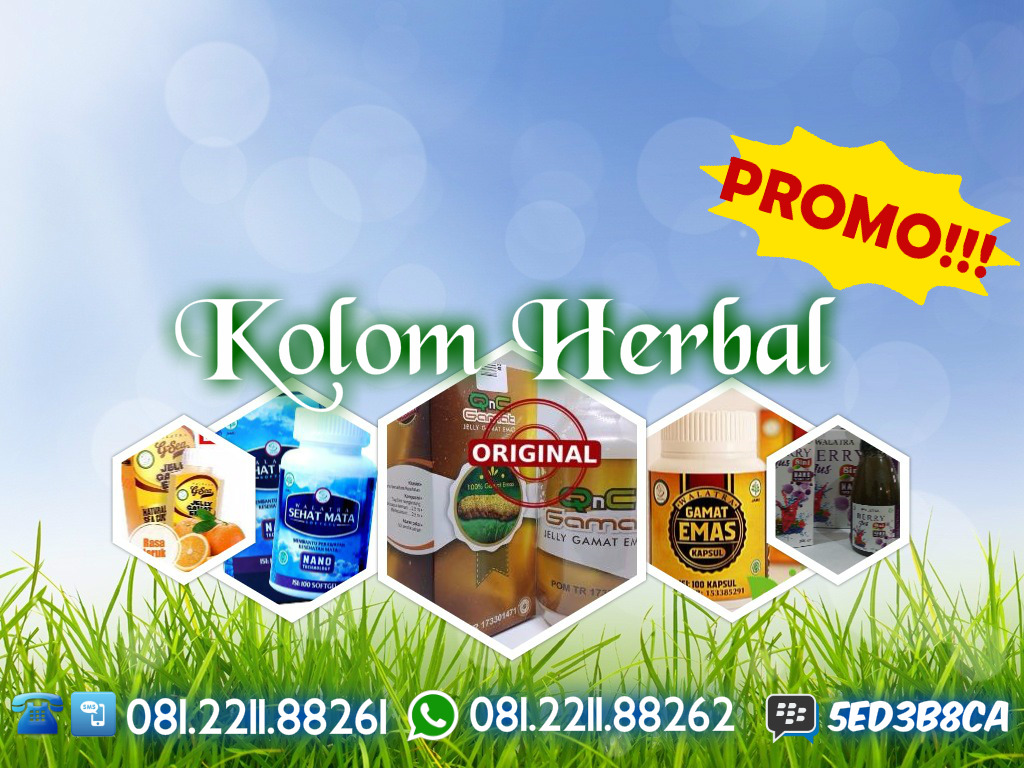 Kolom Herbal - Agen QnC Jelly Gamat - Gamat Kapsul - G-Sea Jelly Gamat Rasa Jeruk - Walatra Sehat Mata - Walatra Blueberry Juice - Produk Green World