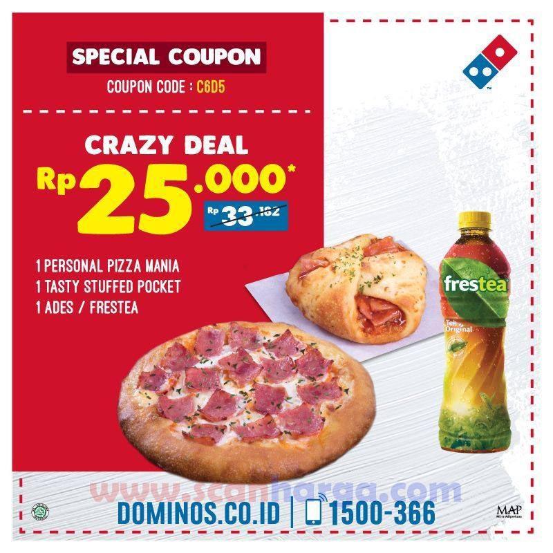 Promo Dominos Pizza Special Coupon Paket Lengkap Hanya Rp 25 Ribu Scanharga