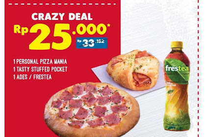 Promo DOMINOS PIZZA Special Coupon Paket Lengkap Hanya Rp 25 Ribu