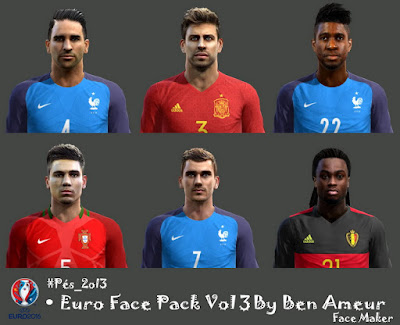 Pes 2013 Euro Face Pack Vol 3 By Ben Ameur