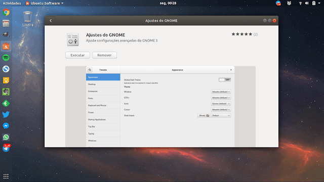 Gnome Tweaks Ubuntu