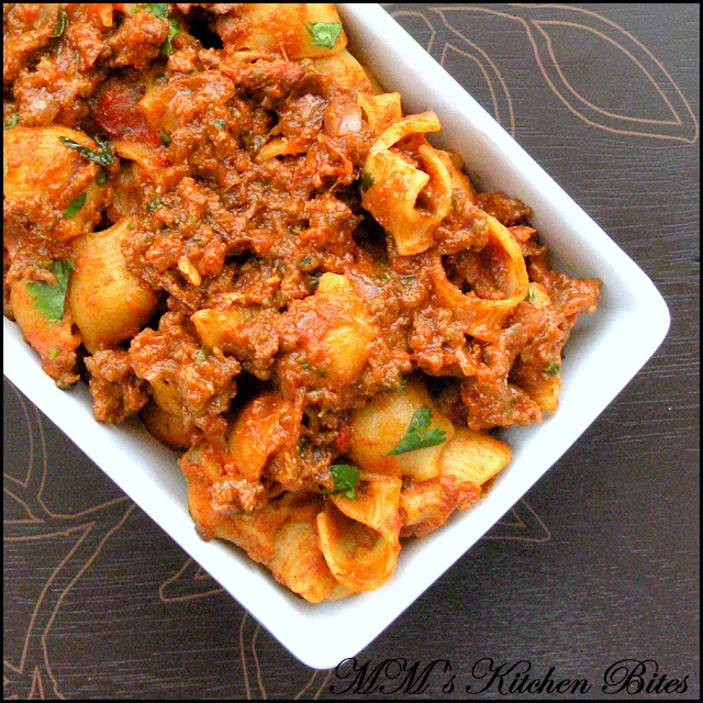 Indian Bolognese Macaroni mmskitchenbites