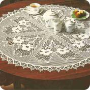 "Tapete redondo ""Las pervincas"" a Crochet"