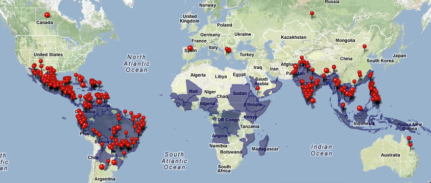 Distribution Of Dengue In The World