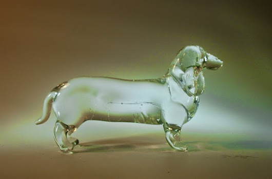 Crystal clear Glass Sausage Dog