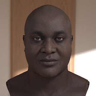 3D model Joseph afro head male
