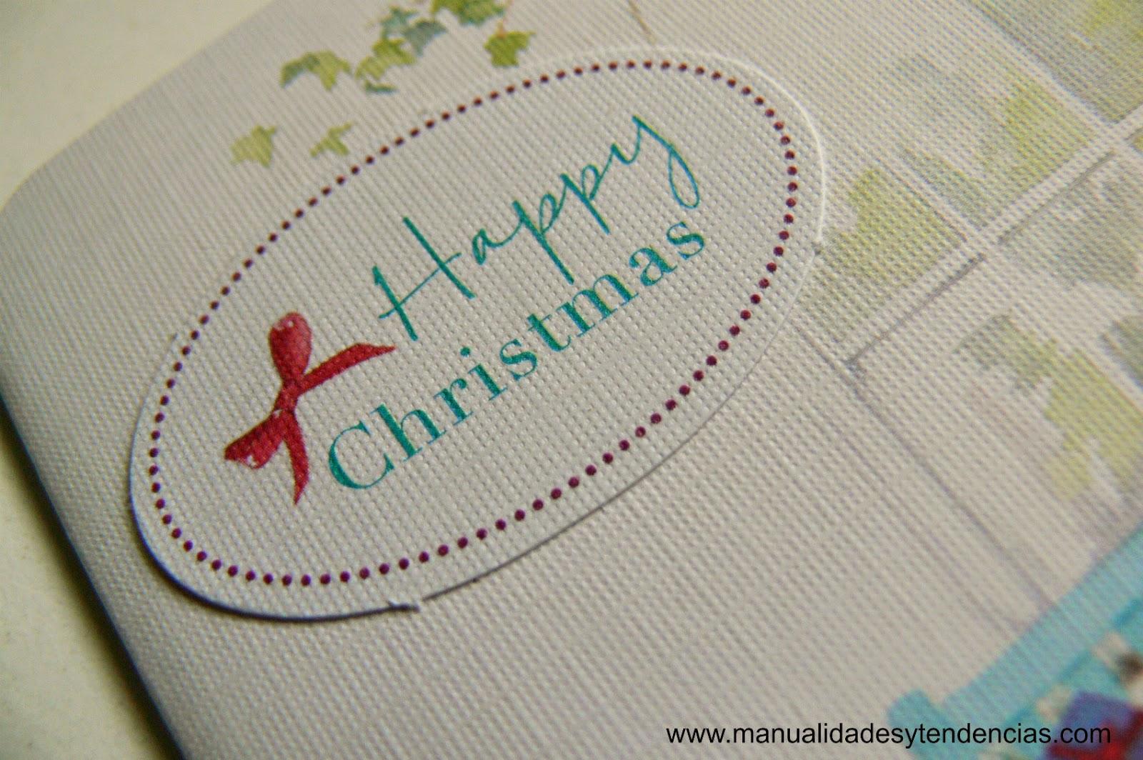 Felicitación navideña scrapbooking