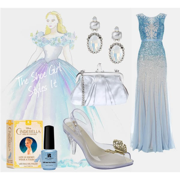 Polyvore set of high end outfit for Melissa Disney Cinderella Lady Dragon shoes