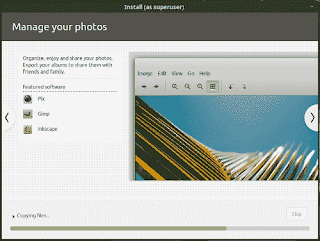 LinuxMint19 Tara installation slide show manage your photos