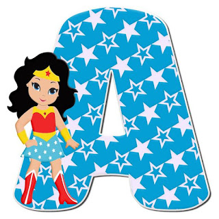 Wonder Woman Letter. Letras de la Mujer Maravilla.